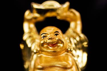 Golden Buddha by lifeinedit