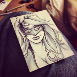 Gravitic Girl Sketch Card by mattkrotzer