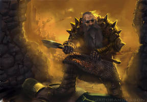 Dwarven Battlesmith by jakeandersonstudio