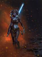 Aayla Secura by jakeandersonstudio