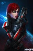 Commander Shepard by W-E-Z