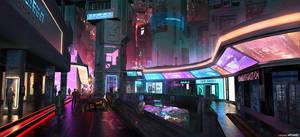 AENiGMA - Cyberpunk Concept Art by W-E-Z