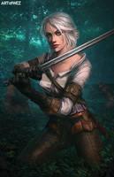 The Witcher 3 - Ciri Fanart by W-E-Z