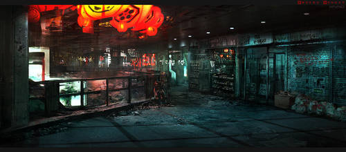 Broken Monday - Underground Walkway by W-E-Z