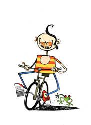 boy on bike 2 ... by mohamed77