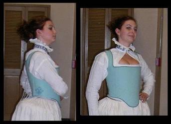 Elizabethan Corset and Partlet by immortalphoenix