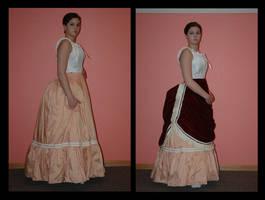 WIP 1884 Velvet Day Dress by immortalphoenix