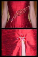 Corset Evening Gown Detail by immortalphoenix