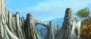 Speed Paint - Landscape by Kwad-rat
