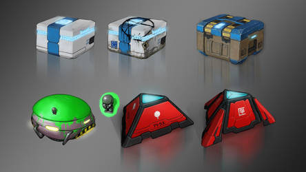 Sci-fi Boxes by Kwad-rat