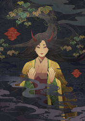 Resting Demon by Hachiretsu