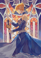Fate Stay Night - Saber by folie-0885