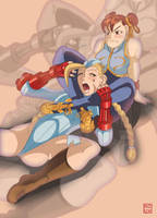 Legscissor - Chun and Cammy by Shadaloo1989