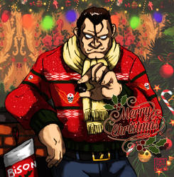 Merry Christmas! - M.Bison / Vega by Shadaloo1989