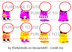 P2U Homestuck Sprite Resources - Dreamself Clothes by Thefantrolls