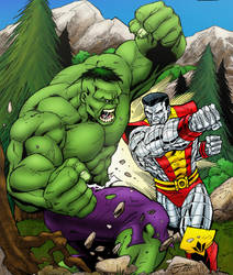 Hulk vs Colossus by statman71