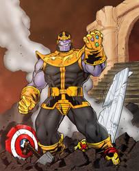 Thanos Triumphant Redux by statman71