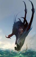 Tiamat, Dragon Goddess of the Oceans by cobaltplasma