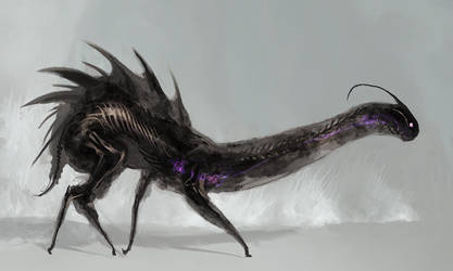 Translucent Shadow Dragon by cobaltplasma