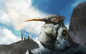 Four-Eyed Stone Fisher by cobaltplasma