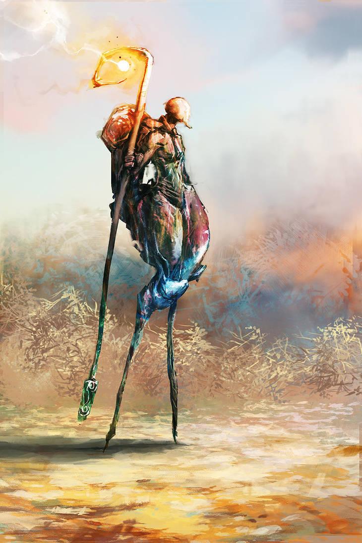 Painted Strider by cobaltplasma