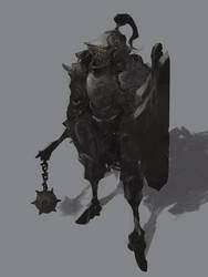 Knight Doodle 042417 by cobaltplasma