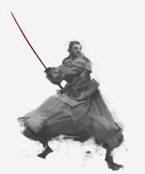 Samurai Quick Sketch 08.07.17 by cobaltplasma