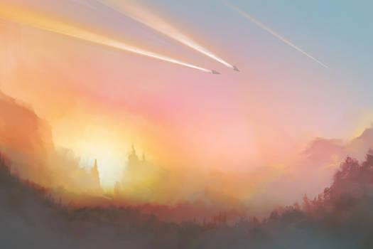 Foggy Dawn by cobaltplasma
