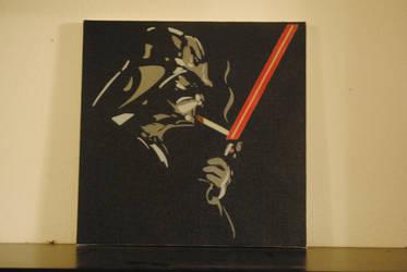 Smoking Vader / 12 x 12 Canvas by Joshfryguy