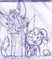A Dog Person and a Cat Person. by Un-Gato