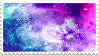 Colorful Galaxy stamp by SwaggyWolfy