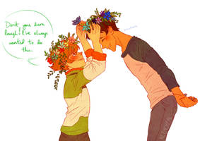 [VOLTRON] Plance/Pidgance - Flower Crowns by Kethereal