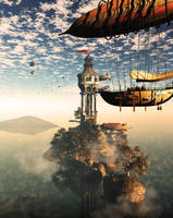 Divinity Skies Zeppelin by kitiekat4U