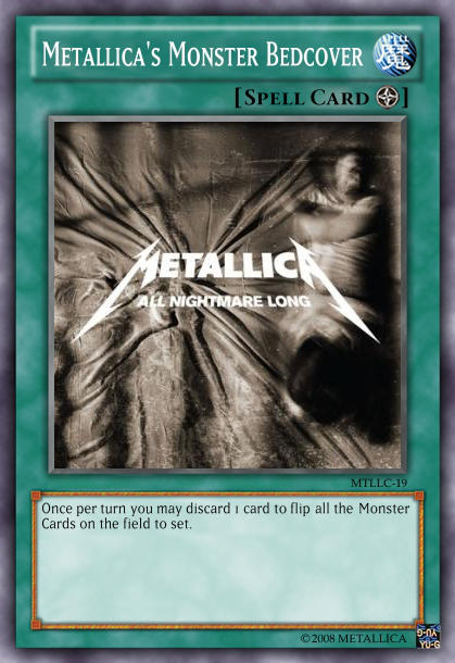 Yu-Gi-Oh Card: Metallica's Monster Bedcover by 84Reaper72
