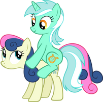 Lyra and Bon Bon by Tsabak