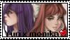 Yuri X Monika Stamp by Lunarii27