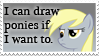 I Can Draw Ponies - Stamp by Sonic-chaos