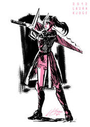 Warrior Sketch by LauraKjoge