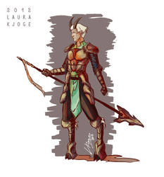 Horned Character Design by LauraKjoge