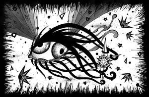 Curious Space Eyeball by CelestialPearl