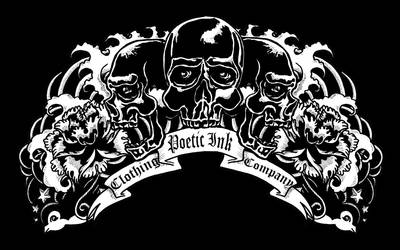 Poetic Ink. Clothing Co. Logo by Rhodesan