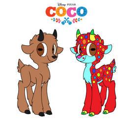 Coco: Miguel's Goat/Alebije Form by Hexalys