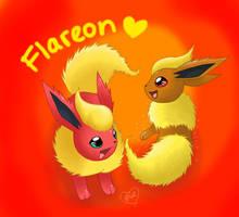 Flareon Twin by BluuKiss