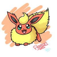 Chibi Flareon by BluuKiss