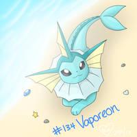 #134 Vaporeon by BluuKiss