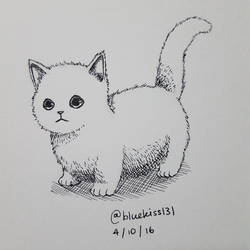 Inktober 2016: Day 4 - Kitten by BluuKiss