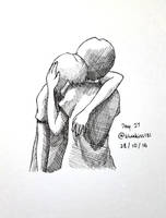 Inktober 2016: Day 27 - A Shoulder to Cry On by BluuKiss