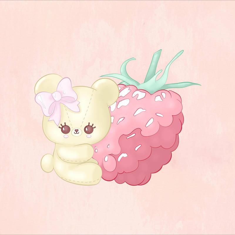 Raspberry Cutie Bear by CatAstropheBoxes