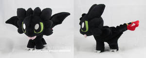 Chibi Toothless III by MagnaStorm