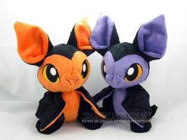 Halloween Bat-Kittens II by MagnaStorm